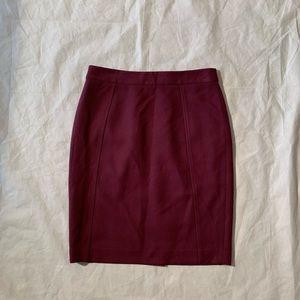 "Halogen Size 4P Purple Pencil Skirt Length 22"""